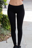 T Party Black Basic Low-Rise Leggings