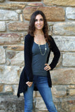 Keeping It Classy Sweater Cardigan - Black