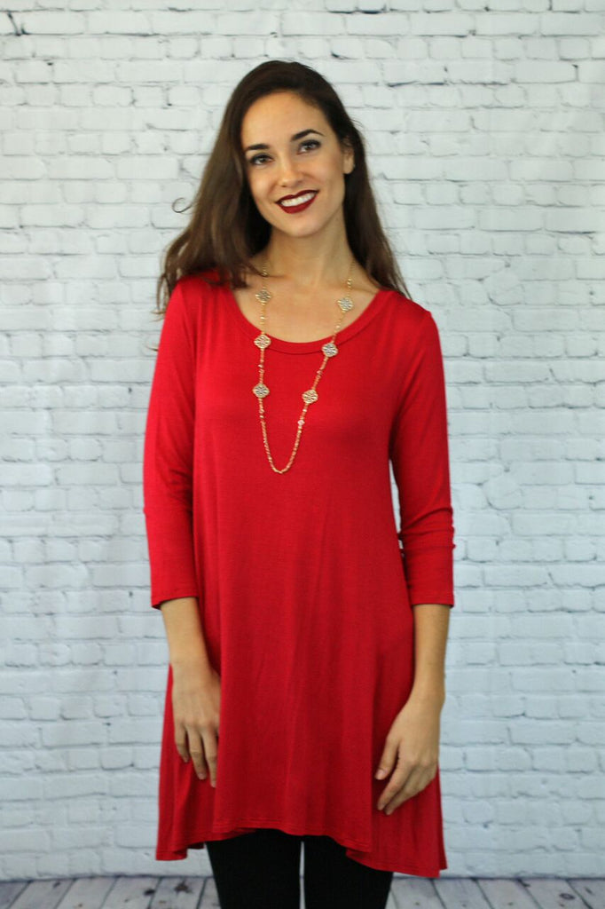 Perfectly Basic Tunic-Comes in variety of colors