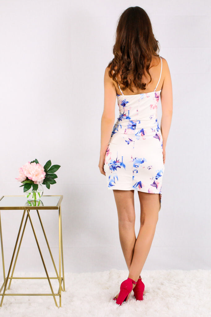 With All My Heart Floral Dress- White
