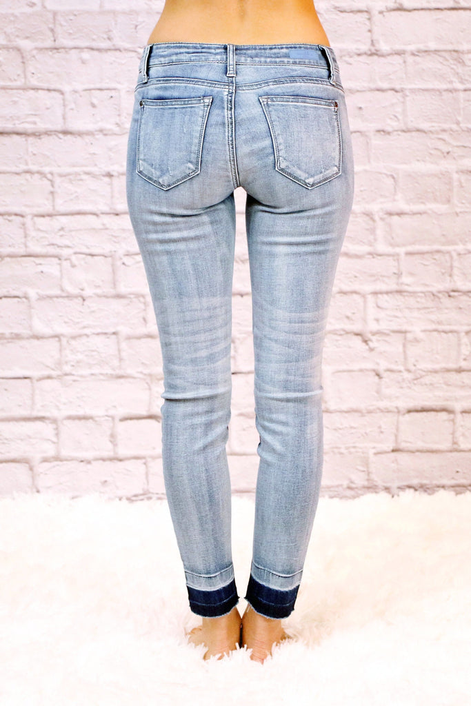 Denim Arts by Judy Blue Released Hem Skinny Jeans
