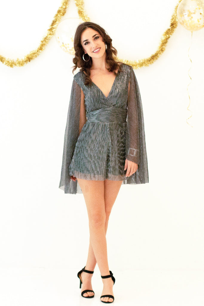 Glitz and Glam Romper - Silver