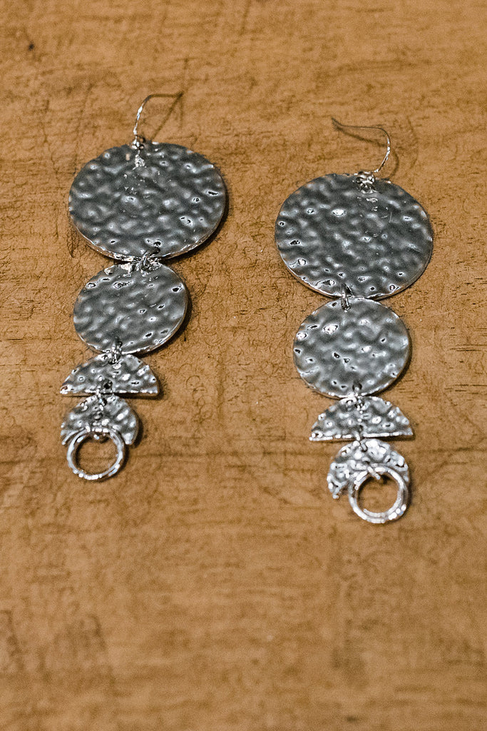 Swinging From The Chandelier Earrings-Silver