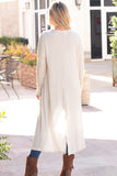 Eesome Beige Lightweight Duster Cardigan (Fullbody Back View)