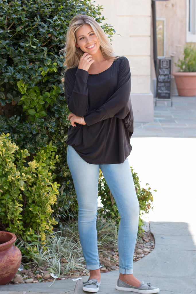 Back in Black Dolman Top - Black