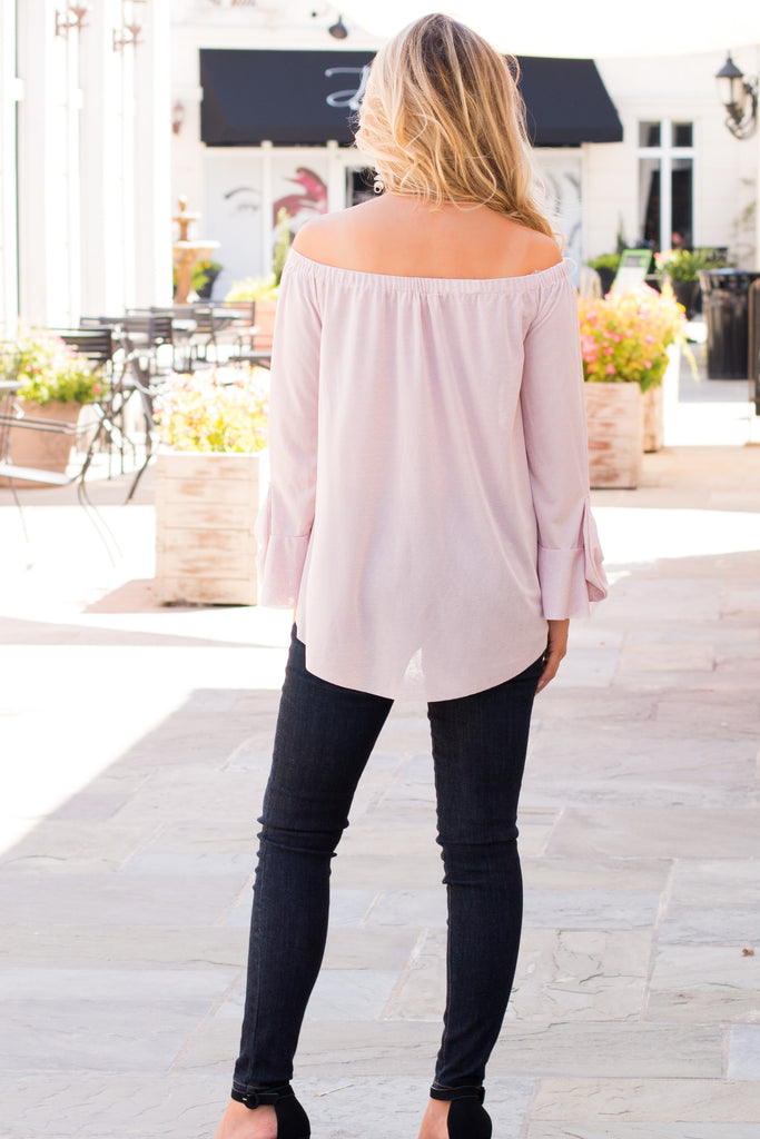 Let Love Lead Bow Sleeve Top- Pink