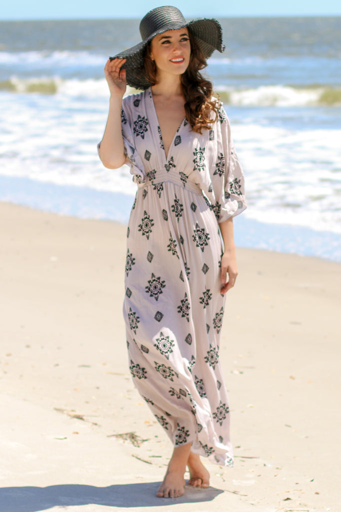 Forever Young Tribal Print Maxi Dress