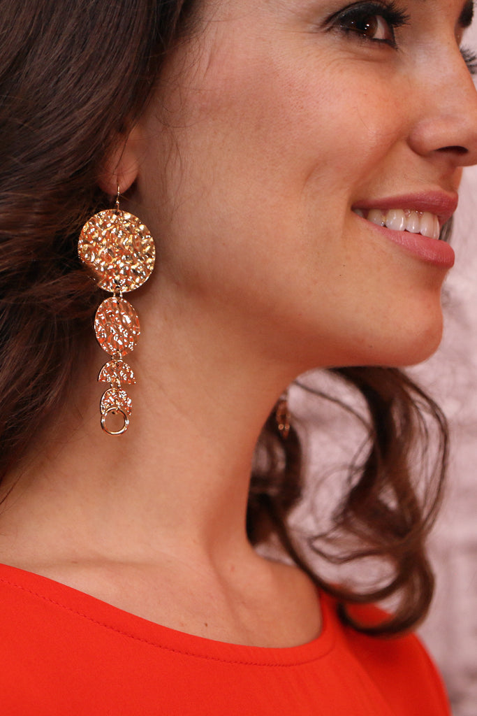 Swinging From The Chandelier Earrings-Gold