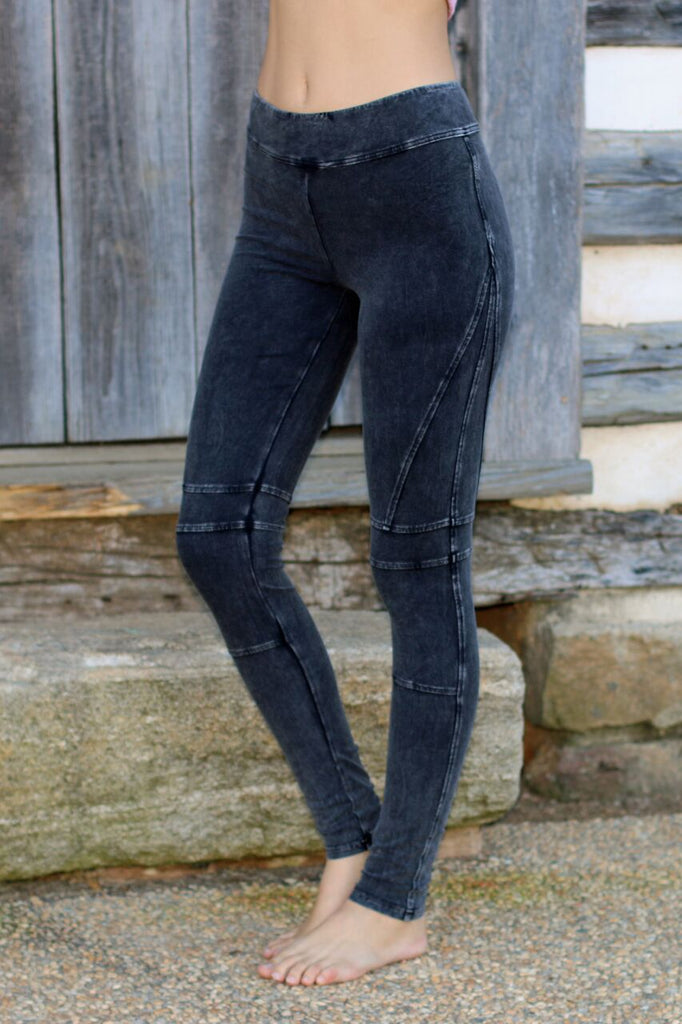 Moto Leggings-Black