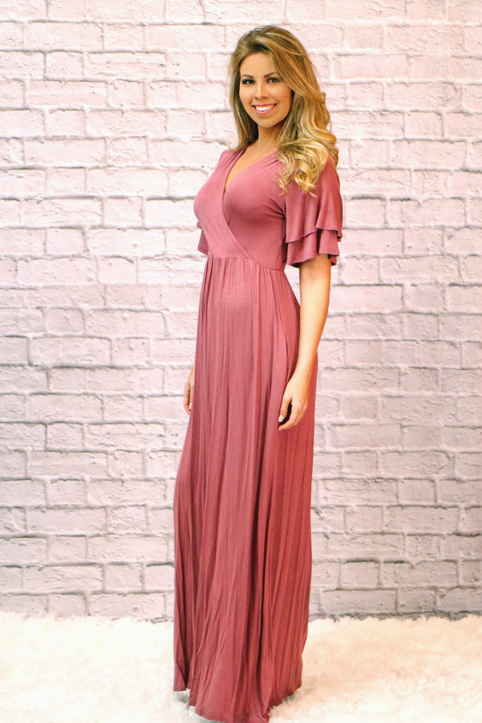 It's A Beautiful Day Dress-Mauve
