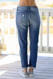 Judy Blue Boyfriend Fit Jean Medium Wash Back View