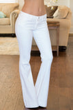 Judy Blue Fitted Trouser Flare Leg Jean - White