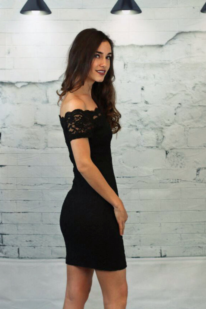 Lovely in Lace Dress- Black