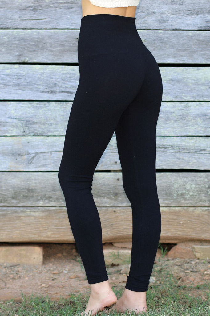 Black Leggings-High waist