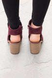 Giselle Booties - Burgundy