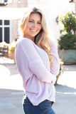 Sweetest Girl Open Back Sweater - Lavender