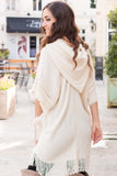Flowerchild Tassel Poncho - Cream