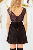 fit and flare exposed zipper party dresses