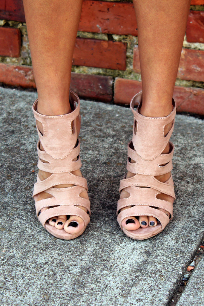 The Way You Look Tonight Strappy Heels - Nude