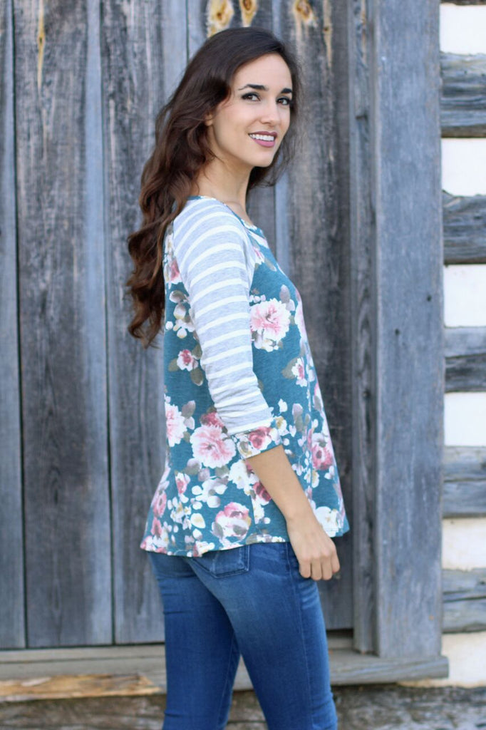 Always Blooming Floral Top