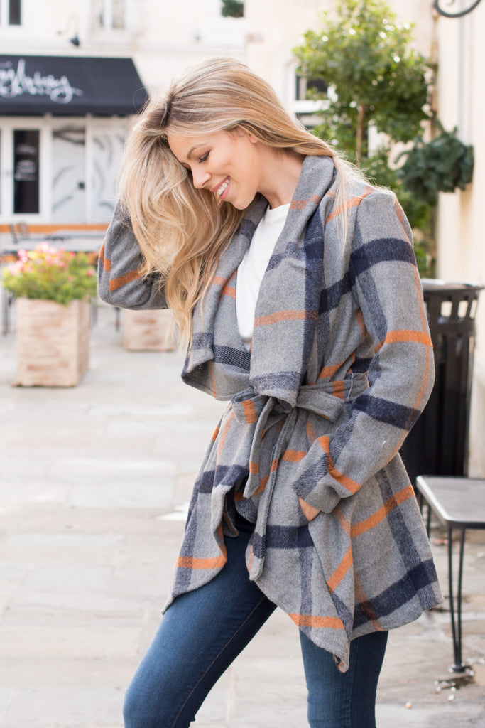 Sweet and Simply Plaid Peacoat