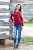 Knot Your Average Girl Top - Burgundy