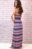 Valentina Boulevard Tribal Print Maxi Side View