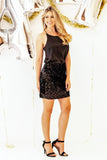 All Things Sparkle Sequin Mini Skirt - Black