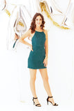 Noelle Faux Suede Dress - Green