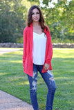 Can't Help Falling in Love Cardigan-Coral