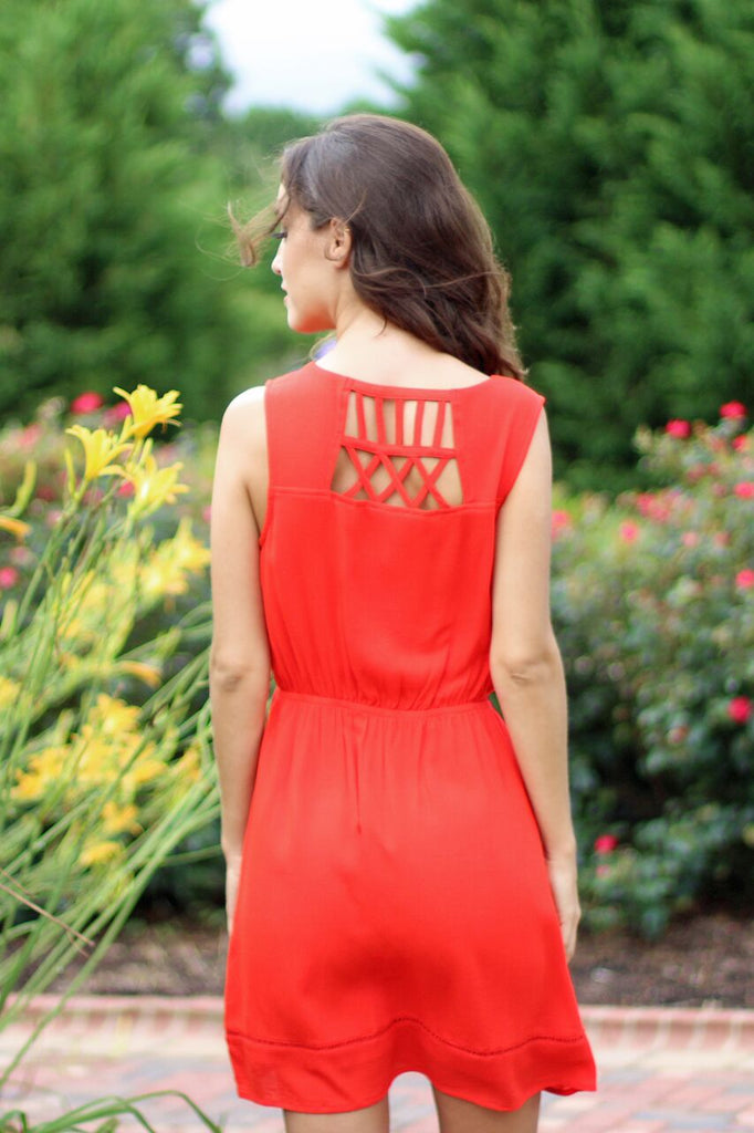 Kiss me in the Moonlight Dress - Red