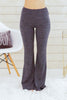 Hem and Thread Fleece Sweatpants in Charcoal Grey Front View