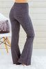 Hem and Thread Fleece Sweatpants in Charcoal Grey Back Right View