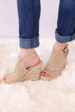Valentina Wedges - Tan