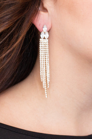 Better Together Tassel Earrings- Grey