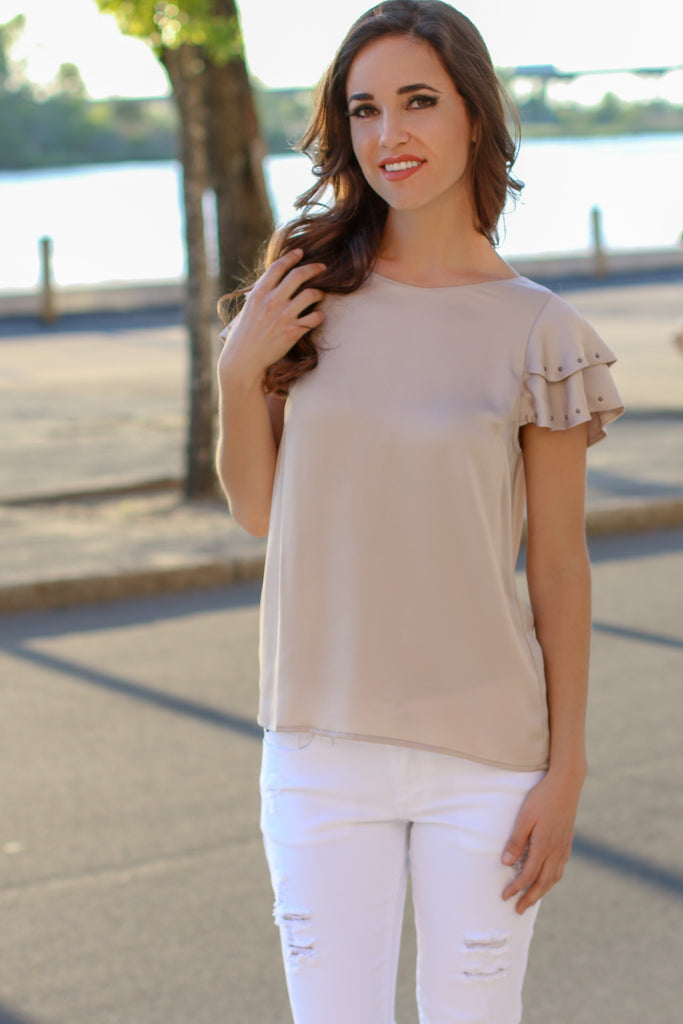 Uptown Girl Top - Champagne
