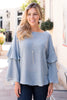 Blue Belle Ruffle Top - Slate