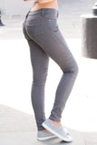 Trendy Wishlist 5 Pocket Moto Jeans in Grey Back View