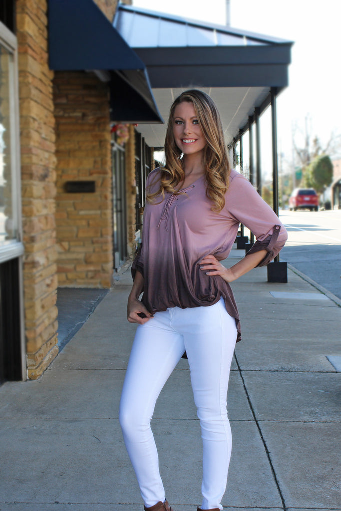 All Play No Work Ombre Top - Pink