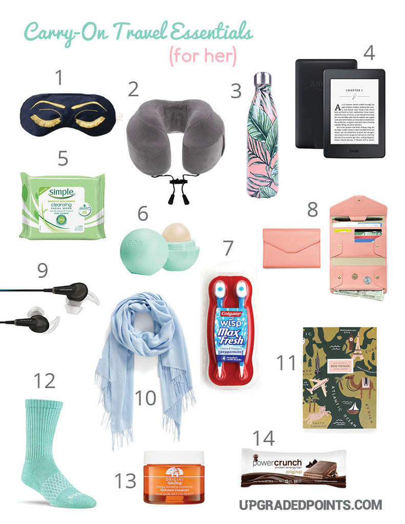 Carry-on Travel Essentials For Short and Long Flights (His & Hers)