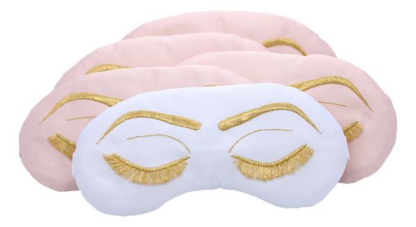 Custom Colors Party Pack Eyelashes  Sleep Masks Metallic Gold or Silver