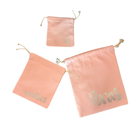 3 pc. Lingerie Travel Bag Set