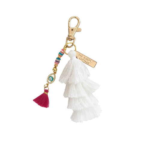 Third Eye Pagoda Tassel Keychain and Bag Charm