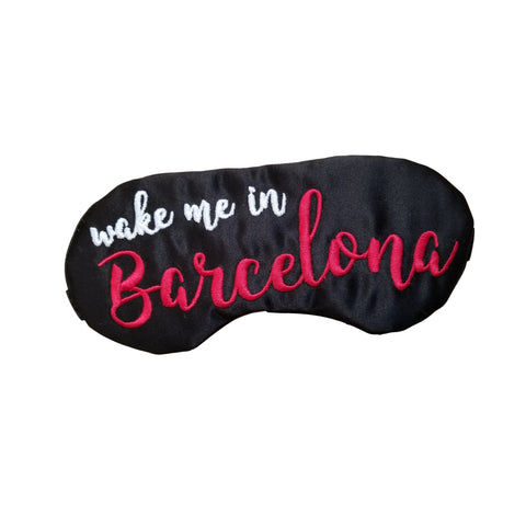 Wake Me In Barcelona Sleep Mask