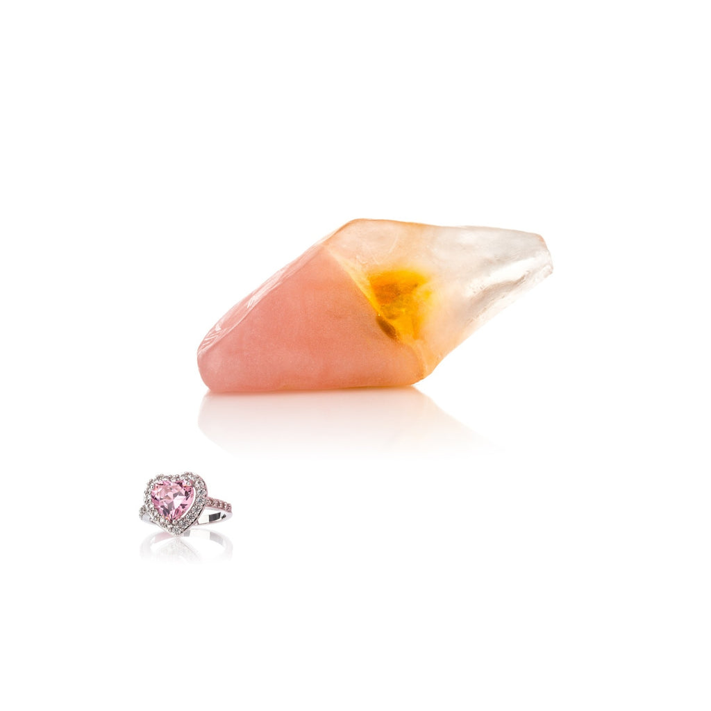 Pearlescent Gemstone Soap With Ring