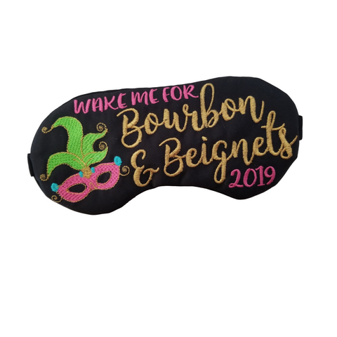 Wake me for Bourbon & Beignets - New Orleans Sleep Mask