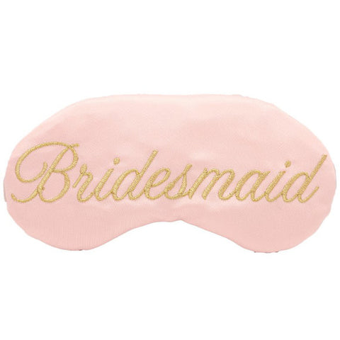 Bridesmaid - Maid of Honor- Wedding Party-  Custom Sleep Mask Gifts Blush and Gold Wedding