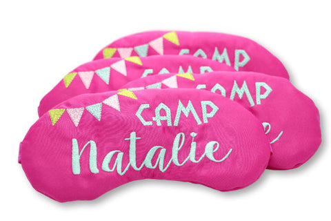 Custom Glamping Slumber Party Favors Sleep Masks