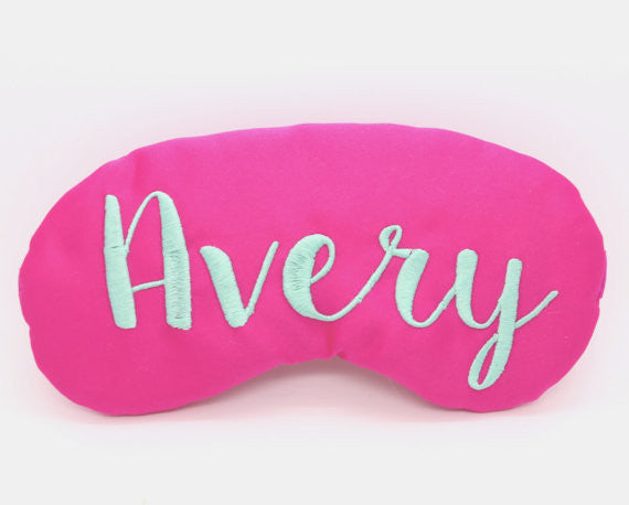 Personalized Satin Sleep Mask in Custom Colors