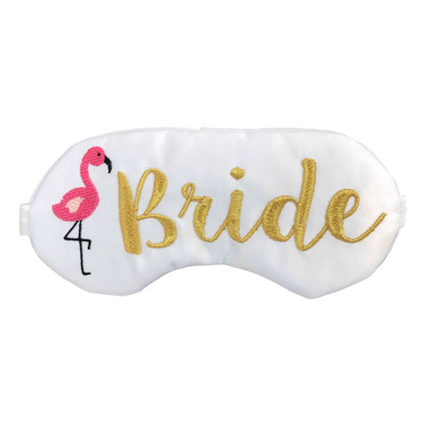 Flamingo Bride Eye Mask